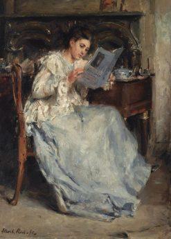 Tjieke Roelofs Reading | Albert Roelofs | Oil Painting