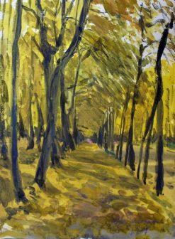 Oranienbaum Park in Autumn | Alexander Benois | Oil Painting