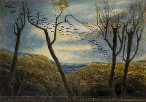 The Many-Wintered Crow | James Smetham | Oil Painting
