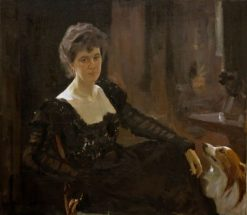 Portrait of Maria Tenisheva | Valentin Serov | Oil Painting
