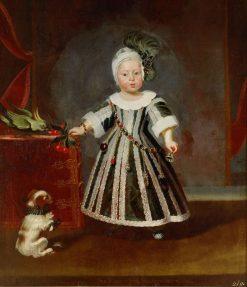 Erzherzog Karl Joseph mit Hundchen und Kakadu im Alter von etwa eineinhalb Jahren | Frans Luyckx | Oil Painting