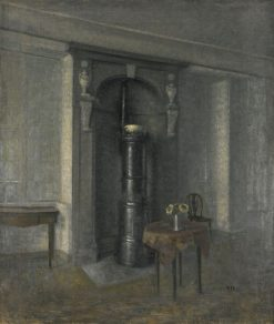 Interior with a Marble Niche   Vilhelm Hammershøi   Oil Painting