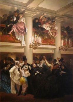 Le bal de lOpera | Pierre Francois Eugène Giraud | Oil Painting