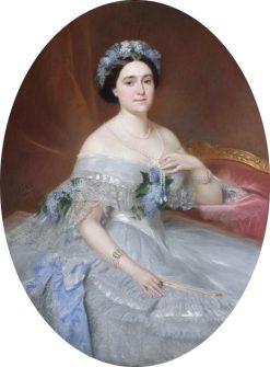 Portrait de la princesse Mathilde Napoleon | Pierre Francois Eugène Giraud | Oil Painting