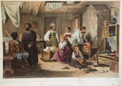 Habitation Russe a Stadienka | Pierre Francois Eugène Giraud | Oil Painting