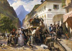 La Douane Italienne au Simplon | Pierre Francois Eugène Giraud | Oil Painting