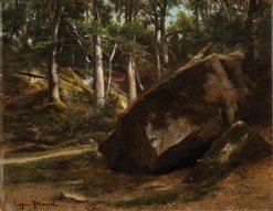 Rochers a Fontainebleau | Pierre Francois Eugène Giraud | Oil Painting