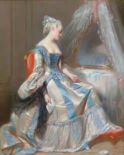 A lady at her toilette   Pierre Francois Eugène Giraud   Oil Painting