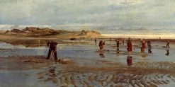 Digging for Bait | Charles William Wyllie | Oil Painting