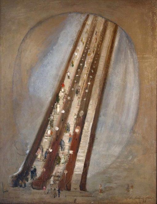 The Underground   Alexander Labas   Oil Painting
