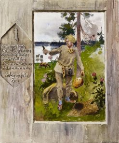 Kullervo Breaks His Knife on the Stone | Louis Sparre | Oil Painting