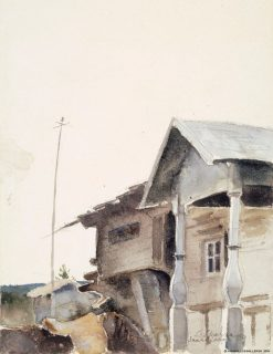Old Houses | Louis Sparre | Oil Painting