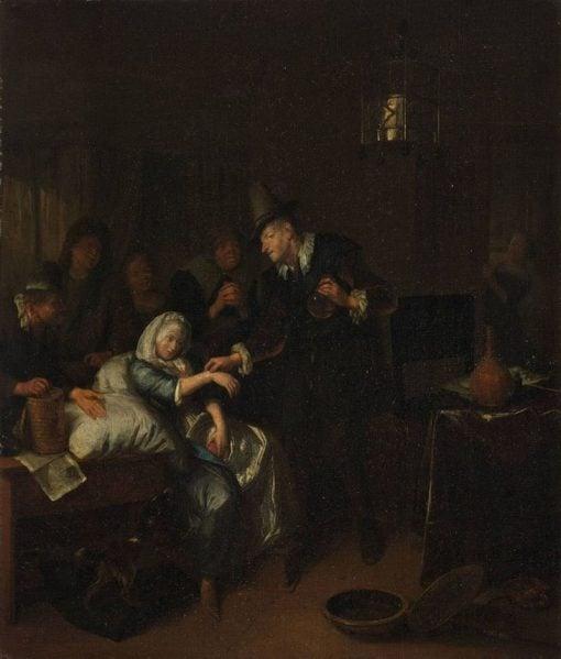 The Doctors Visit   Richard Brakenburg   Oil Painting
