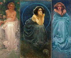 Lenigma umano (triptych) | Giorgio Kienerk | Oil Painting