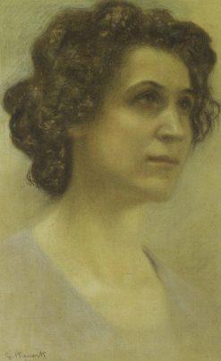 Portrait of Irma Gramatica | Giorgio Kienerk | Oil Painting