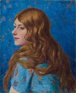 Buste de femme rousse vue de profil | Federico Zandomeneghi | Oil Painting