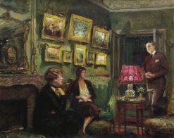 Mme Gillou chez elle | Edouard Vuillard | Oil Painting