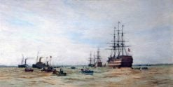 First Boat Race on the Mersey between the Cadets of HMS Conway and HMS Worcester