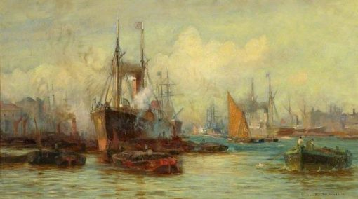 The Pool of London | Charles William Wyllie | Oil Painting