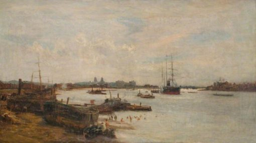 The Thames below Greenwich | Charles William Wyllie | Oil Painting