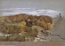 A View of Norbury Woods | George Richmond | Oil Painting