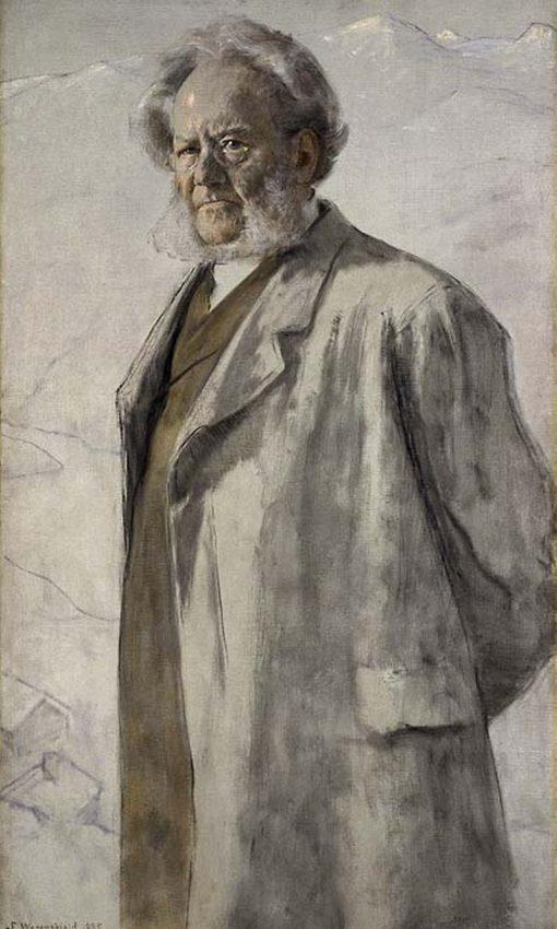 Portrait of of Henrik Ibsen | Erik Werenskiold | Oil Painting
