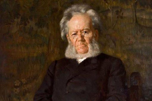 Portrait of of Henrik Ibsen   Erik Werenskiold   Oil Painting