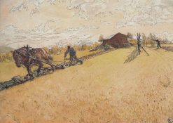 Ploughing | Carl Larsson | Oil Painting