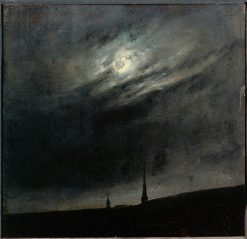 Moonlit night over Dresden | Johan Christian Claussen Dahl | Oil Painting