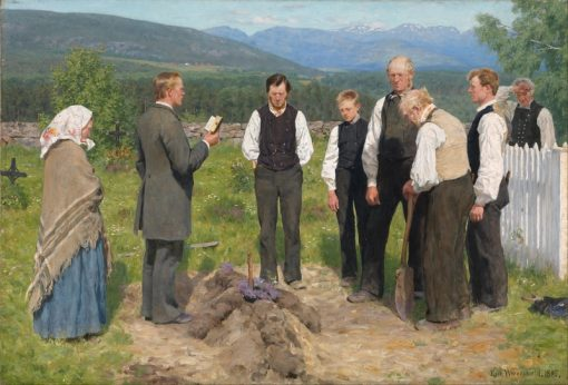 Peasant Burial | Erik Werenskiold | Oil Painting