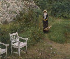 In family surroundings | Erik Werenskiold | Oil Painting