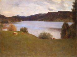 Landscape with a Lake | Erik Werenskiold | Oil Painting