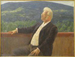 Portrait of Bjornstjerne Bjornson | Erik Werenskiold | Oil Painting