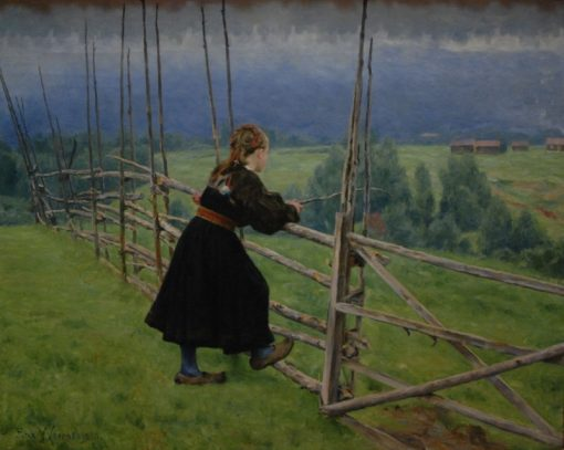 On the plain   Erik Werenskiold   Oil Painting