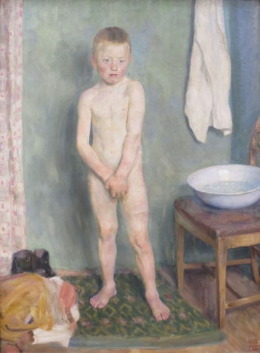 The Boy by the Washbasin   Erik Werenskiold   Oil Painting