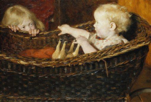 Children Playing   Erik Werenskiold   Oil Painting