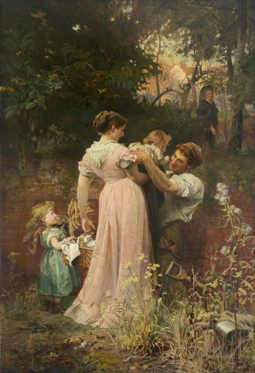 My Lady Is a Widow and Childless   Marcus Stone   Oil Painting