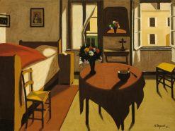 La chambre du cure | Marius Borgeaud | Oil Painting