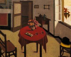 Interieur aux deux verres | Marius Borgeaud | Oil Painting