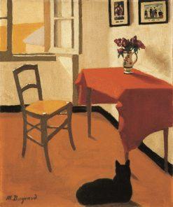 Interior with Cat | Marius Borgeaud | Oil Painting