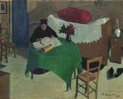 Le repas solitaire | Marius Borgeaud | Oil Painting