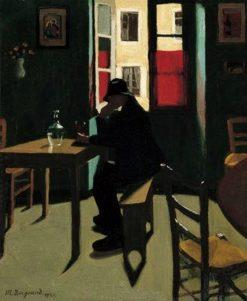 Lapero de lhomme en bleu | Marius Borgeaud | Oil Painting