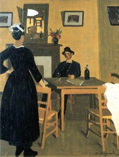 Le bistrot jaune | Marius Borgeaud | Oil Painting