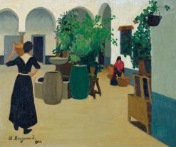 Cour espagnole | Marius Borgeaud | Oil Painting