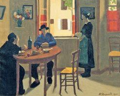La bonne et la soupière | Marius Borgeaud | Oil Painting