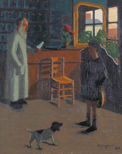 La pharmacie | Marius Borgeaud | Oil Painting