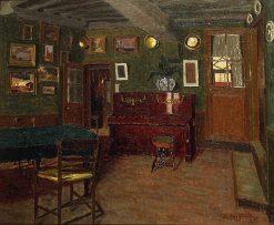 Interieur au piano | Marius Borgeaud | Oil Painting