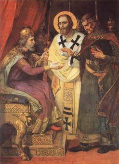 St. Sava Reconciles Brothers | Paja Jovanovic | Oil Painting