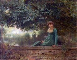 Waiting   Marcus Stone   Oil Painting