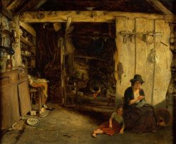 Cottage Interior | James Digman Wingfield | Oil Painting
